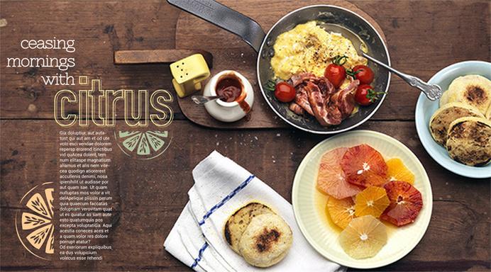 Portfolio / Layout / Design Test II #breakfast #design #food #citrus #layout #magazine