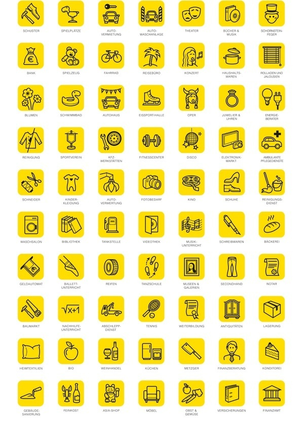 Gelbe Seiten Peter Kohl Creative Director #icon #picto #symbol #sign