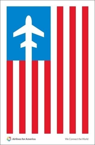 Pentagram #airplane #airline #iconic #illustration #minimal #poster #america #patriotic