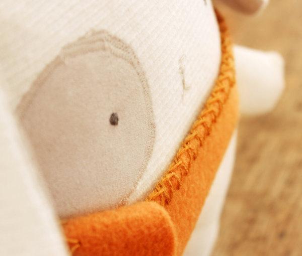 Bunny Softie Nursery Decor Eco Friendly Upcycled Fabric Handmade #upcycled #plush #fox #stuffed #handmade #plushie #softie #cabane #toy