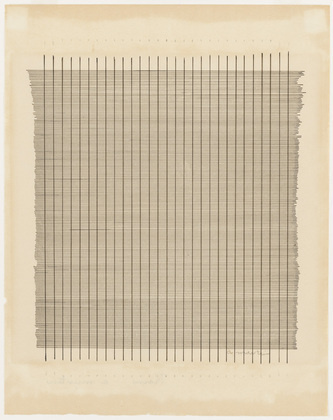 Agnes Martin. Tremolo. 1962 #agnes #martin #minimal #painting