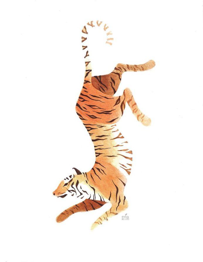 Tiger, an art print by Ena Kim - INPRNT