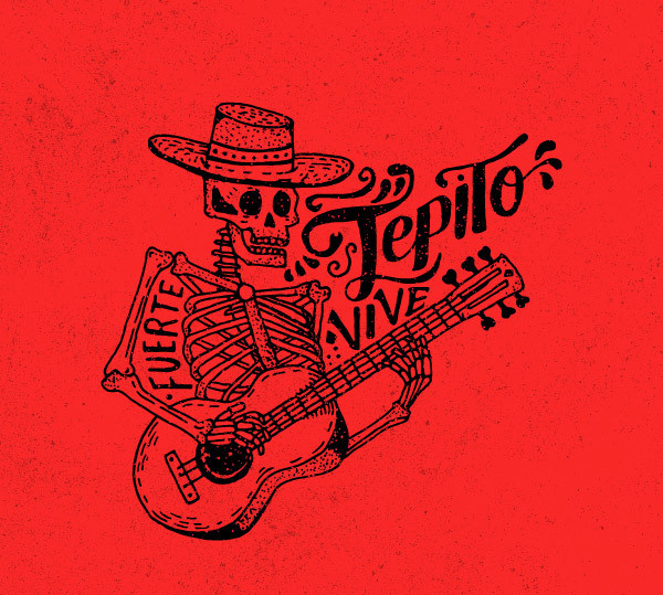 TEPITO Tacos & Tequila illustrations, mexico #inspiration #mexico #design #illustrations #restaurant #drawing