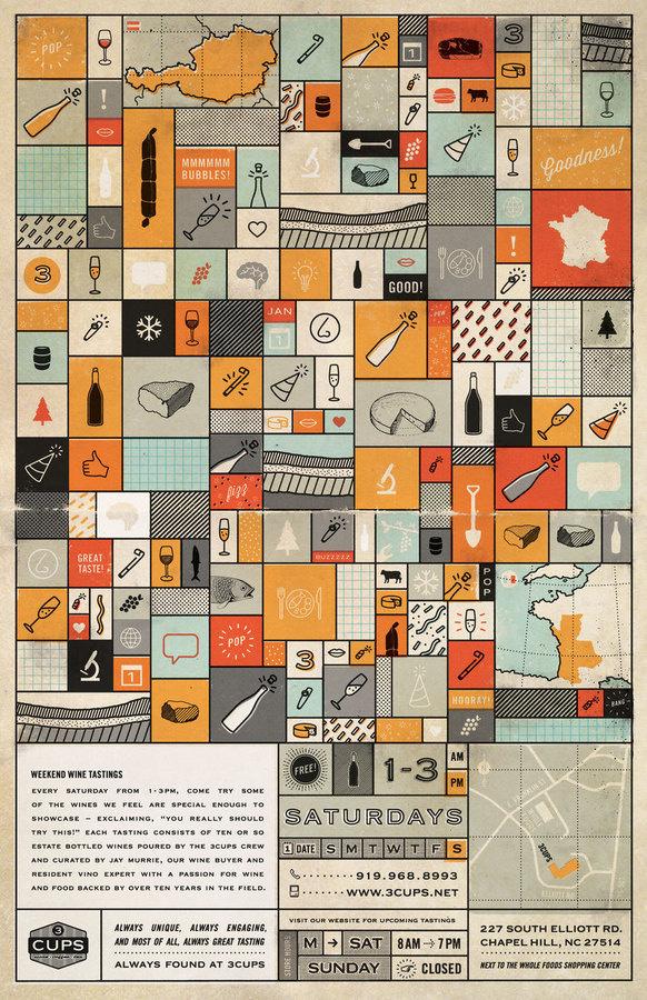 Weekend Wine Tastings #poster #wine #map #icon
