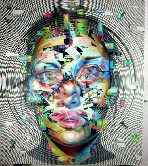 Justin Bower   PICDIT #design #paint #portrait #glitch #art #painting