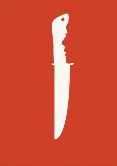 EXCLUSIVE BOOKS on the Behance Network #girl #negative #space #minimalist #knife