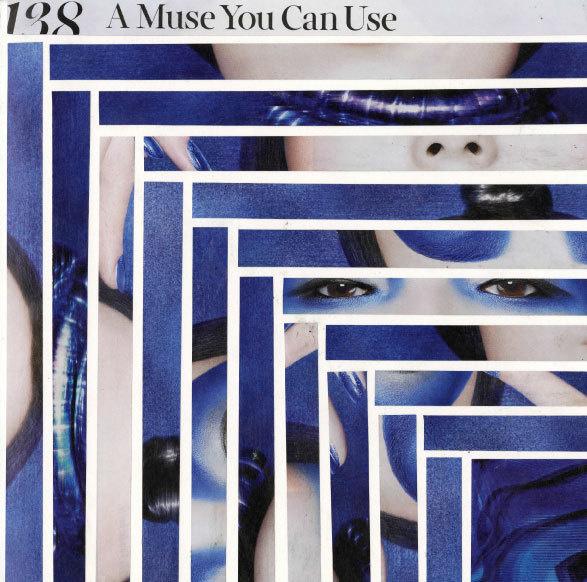 Blue Muse #cut #deconstruction #composition #hand #magazine