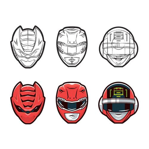 Super Sentai Series by Mark Eastwood #heads