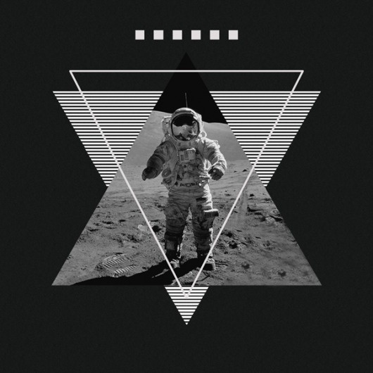 Metric on the Behance Network #design #space #shapes #moon #triangles