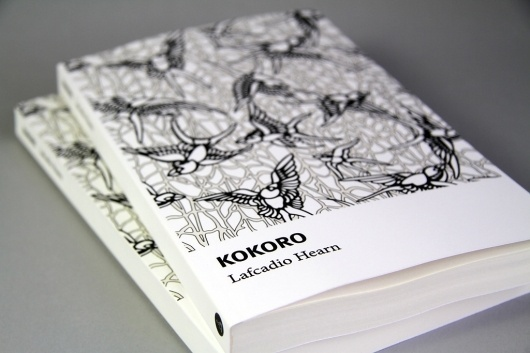 All sizes | Kokoro: Hints and Echoes of Japanese Inner Life Cover | Flickr - Photo Sharing! #white #pattern #design #japanese #book #black #bird #cover