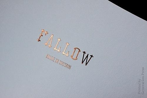 Generation Press » Fallow Look-Book_Goodhood Store Launch – Falloween #logo #book #foil