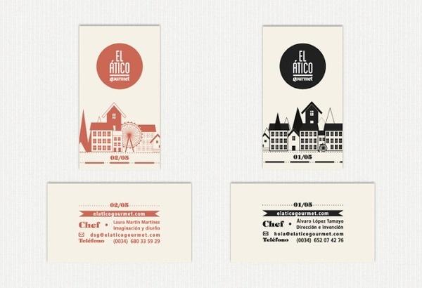 LaMM, visit cards #atico #el #brand #identity #gourmet #cards #visit
