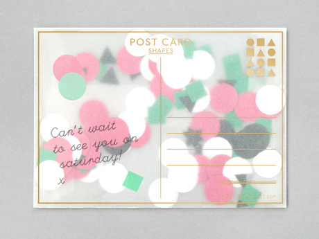 Shapes Postcard
