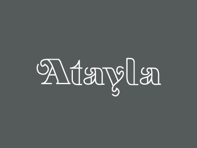 Dribbble - Atayla by Keith Davis Young #type #design #line #work