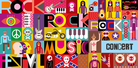 Rock Concert Poster. #abstract #vector #collection #design #graphic #poster #art #music