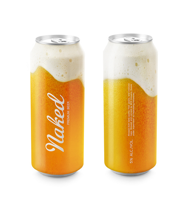 Naked beer package design #beer #design #product