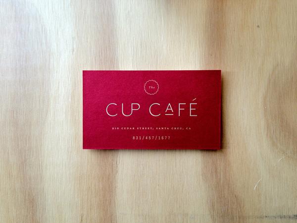 Cup Café #business #caf #card #logo #cup