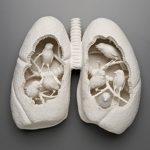 Birds in the lungs Art Sculpture #sculpture #art
