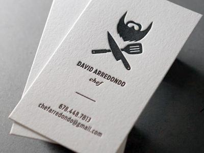 Best letterpress business card culinary creations images on david a letterpress business card by nicholas devore business card letterpress colourmoves
