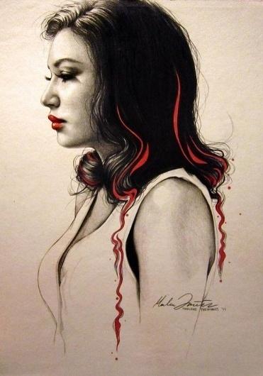 Portrait Illustrations by Marlene Freimanis | Cuded #freimanis #marlene #portrait #illustrations