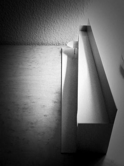 studio exploration / mock model - monocle #interior #model #shophouse #white #bloack