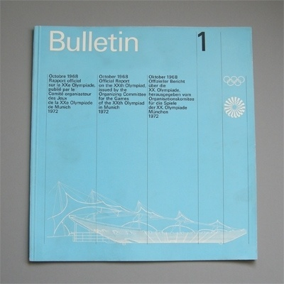 Design by Otl Aicher and Rolf Müller #otl #olympics #aicher