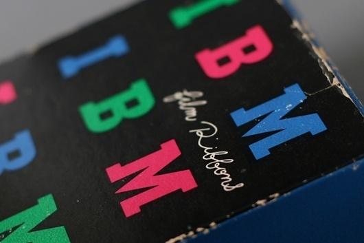 paul-rand-IBM-2.jpg 600×400 pixels #packaging #color #box #black #ibm