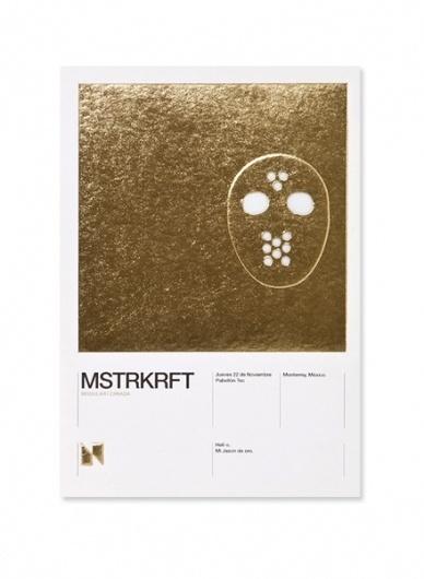 Face. Works. / Nrmal. / Bench.li #grotest #card #flyer #clean #gold