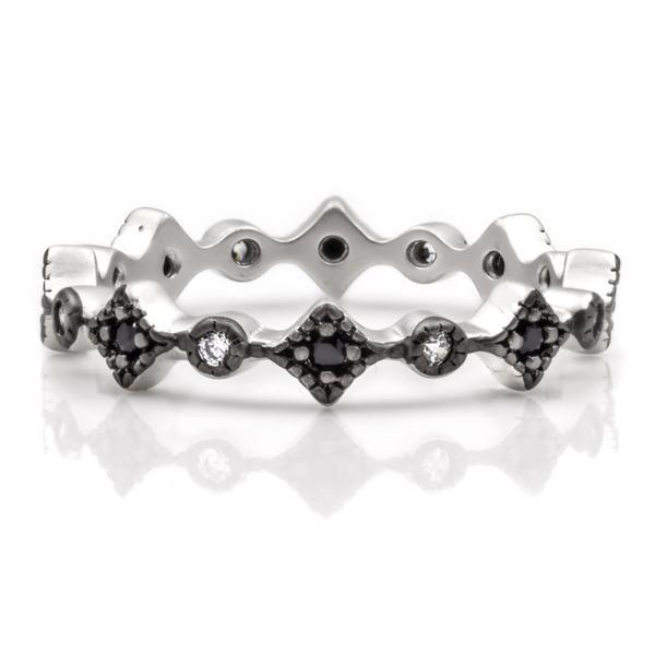 Thin Harlequin Ring – Freida Rothman | Price: $50.00 | Product details @ https://bit.ly/2zvfwyQ. Buy now! #Rings #Jewelry #Fashion #FreidaRothman #NYC #NewYork #Brooklyn