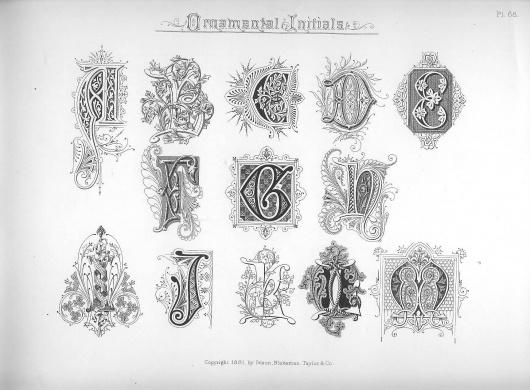 Spencerian Compendium of Penmanship :: Ornamental Initials #calligraphy #ornament