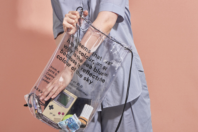 from A to B (fear of B) · MMXV SS Sack Packs Series, PAGE THREE HUNDRED #bag #plastic #transparent
