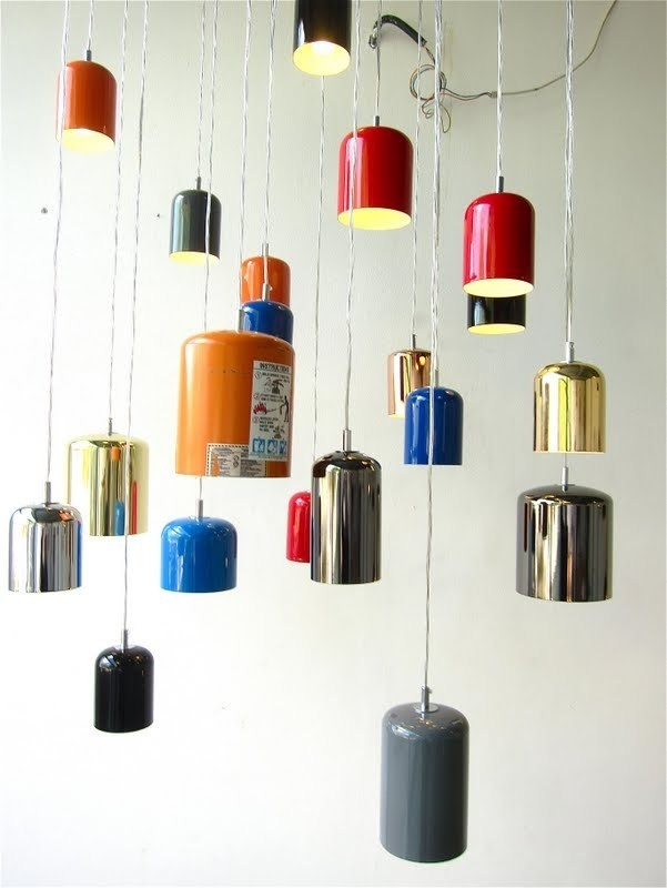 contessanally: Milano: Furniture Fair 2011 - Designers and their products # 2 #interior #extinguishers #lights #design #fire #recycled