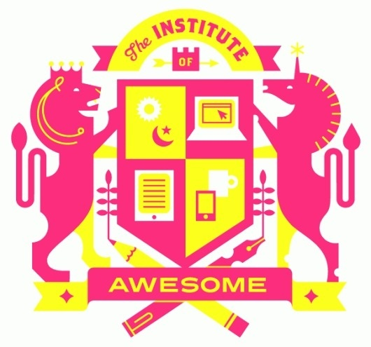 Eight Hour Day » The Institute of Awesome #unicorn #hour #yellow #magenta #eight #illustration #day #awesome