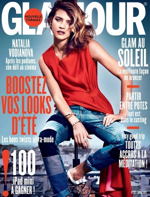Beauty Russian model Natalia Vodianova photographed by Van Mossevelde + N and styled by Donatella Musco for Glamour France July 2013 Cover S #fashion #photography #inspiration