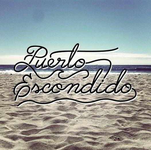 Puerto Escondido #lettering #script #surf #wave #puertoescondido #logo #beach #blue