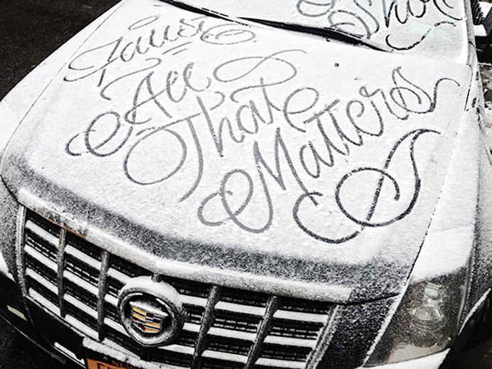 Processed with VSCOcam with se3 preset #handwriting #snow #typography