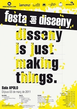 40fakes #yellow #design #graphic #colours #typopgraphy #poster #disseny #festa