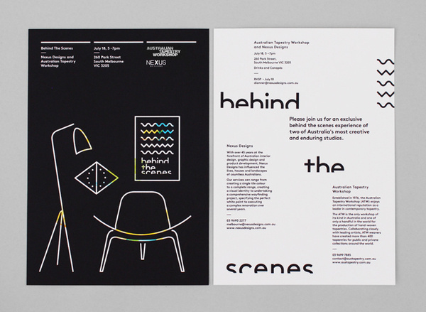 Behind the Scenes Borg, Peter — Graphic Designer #design #graphic #illustration #poster #typography