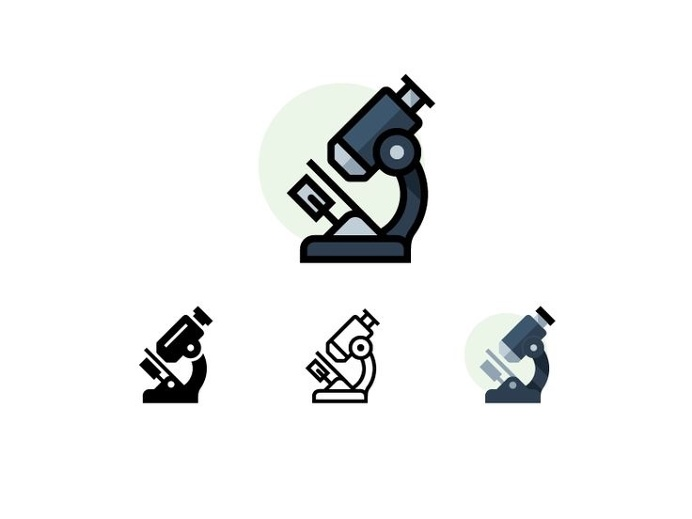Quatro Microscope R1 by Scott Lewis #icon #icondesign #picto #flat #pictogram