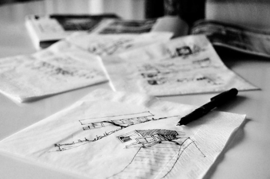 Schuster House on the Behance Network #architecture #sketch #napkin