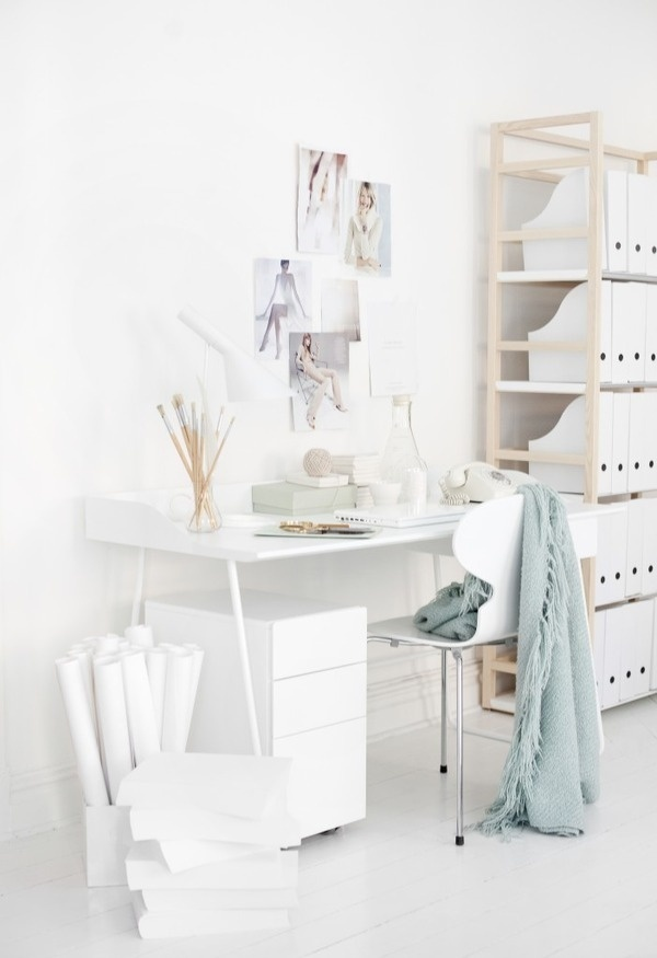 Welcome to Sweet Home Style #furniture #white #workspace #interior