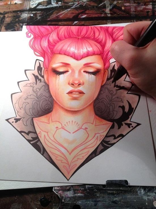 Glenn Arthur #illustration #color #art