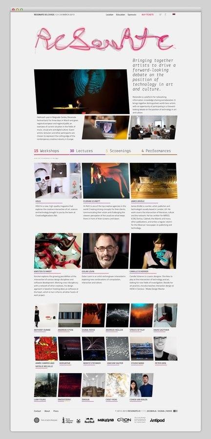 Resonate #website #layout #design #web