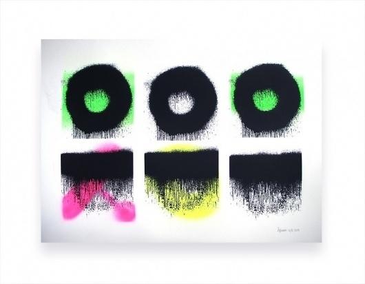CIrcle Lines. Multi Neon. 12/16. 50x65cm.   stephen hiam #stephen #hiam #poster #neon