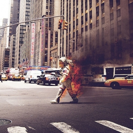 Every reform movement has a lunatic fringe #space #photograph #on #spacesuit #fire #spaceman #york #nyc #new