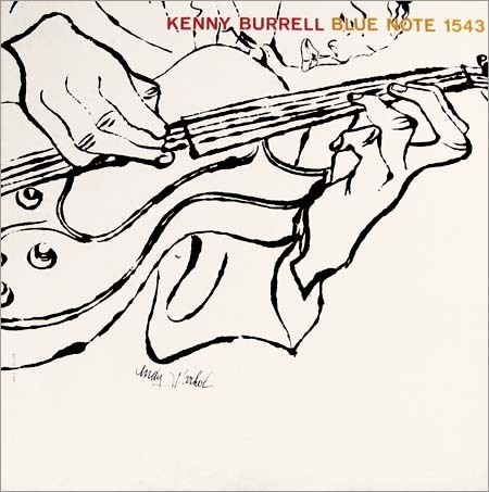 Kenny Burrell, Blue Note 1543, Andy Warhol #white #design #graphic #illustration #typography