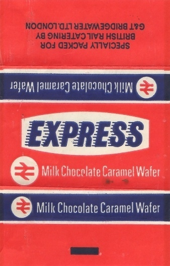 Wallace Henning - Notes #british #design #graphic #chocolate #transport #rail #bar #wrapper