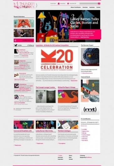 The website design showcase of Thunder Chunky. #website #grid #design #web