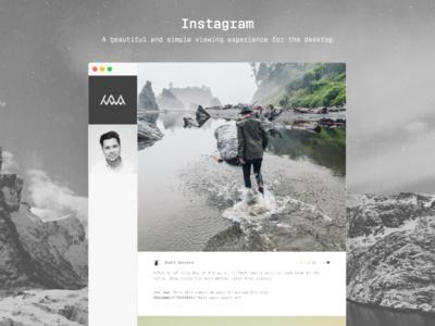 Instagram desktop viewer by Nichlas W. Andersen #ui #ux #instagram #interface #app