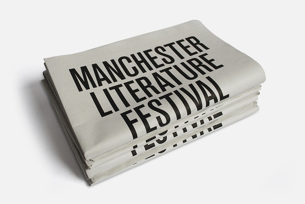 Manchester Literature Festival 2010 MARK #cover #newsprint #editorial